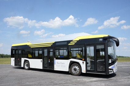 Nya Solaris Urbino Electric är en av sex stadsbussar som tävlar om titeln Bus of the Year 2017. Foto: Ulo Maasing.