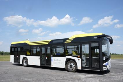 Nya Solaris Urbino Electric är en av sex stadsbussar som tävlar om titeln Bus of the Year 2017. Foto: Ulo Maasing.