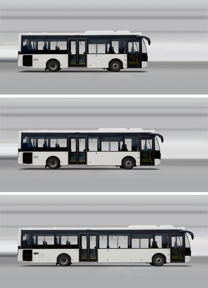 VDL breddar produktprogrammet för stsdsbussen Citea med tre nya längder. Bild: VDL.