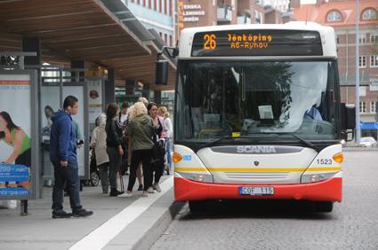 Snart testas kortbetalning på bussar i Jönköping. Foto: Ulo Maasing.