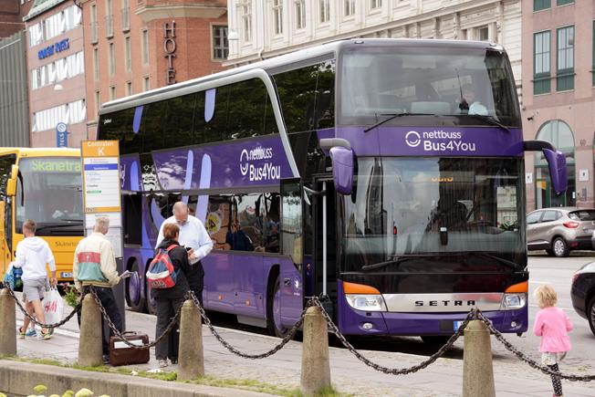 Nettbuss´ expressbussverksamhet i Sverige har vuxit kraftigt de senaste åren Här är en buss från Nettbuss Bus4You i Malmö. Foto: Ulo Maasing.