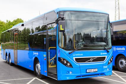 Nettbuss i Västra Götaland har köpt ett 80-tal Volvo 8900. Foto: Volvo.