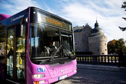 Resandet med stadsbussarna i Örebro har ökat med drygt 20 procent på två år. Foto: Länstrafiken Örebro.