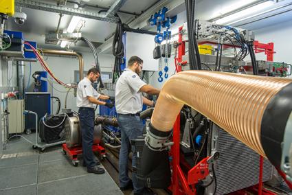 Scania har öppnat ett testlabb för motorer i Brasilien. Foto: Scania.