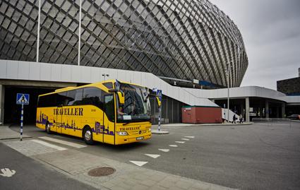 Traveller Buss svarade för persontransporterna för de inblandade under Eurovison Song Contest.