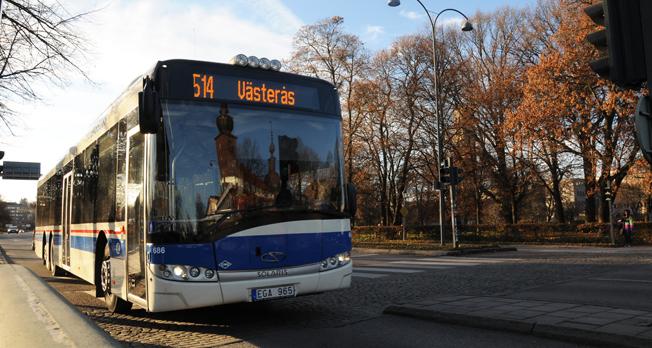 Linje 514 är en av de busslinjer i Västmanland som får utökad trafik kvällar och helger när höstmörlret faller. Foto: Ulo Maasing.