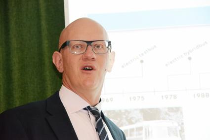 Thomas Tonger, chef för produktplanering och alternativa drivlinor vid Daimler Buses. Foto: Ulo Maasing.