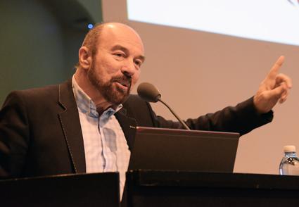 """""""Branschen har enorma möjligheter genom digitaliseringen. Men vi måste agera snabbt"""", sa Sir Brian Souter. Foto: Ulo Maasing."""