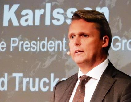 Håkan Karlsson, vice vd, Volvo: Vi kommer att få trådlöst hoppkopplade busståg. Foto: Ulo Maasing.