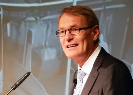 Hartmut Schick, vd för Daimler Buses: Det råder ingen tvekan om att framtidens stadstrafik kommer att vara elektrisk. Foto: Ulo Maasing.