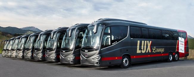 Irizar har nu levererat 100 i8, åtta av dem till estniska Lux Express. Foto: Irizar.