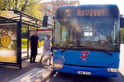 Linjenätet i Karlskoga ändras i augusti. Foto:Länstrafiken Örebro.