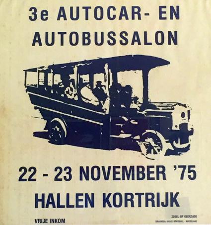 Anrika Busworld flyttar från Kortrijk till Bryssel 2019. Det här är mässaffischen från 1975.