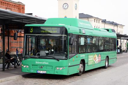 Ringlinjen, linje 3, och linje 7 blir de första stadsbusslinjerna i Malmö som ska köras med elbussar. Pfremiär våren 2018. Foto: Ulo M aasing.