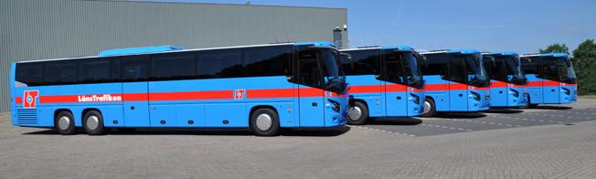 Söne Buss har tagit emot tio VDL-bussar, skräddarsydda för företaget. Foto: VDL.
