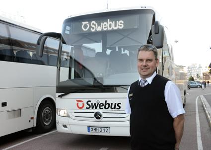Ökad komfort uppskattas helt klart av resenärerna, bekräftar Swebusföraren Magnus Thorén. Foto: Ulo Maasing.