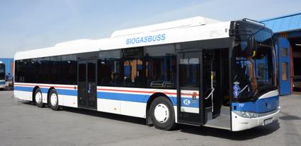 Bland nyheterna på de nya 15-metersbussarna är en åttonde gastank, elektriska dörrar och LED-belysning. Foto: Ulo Maasing.