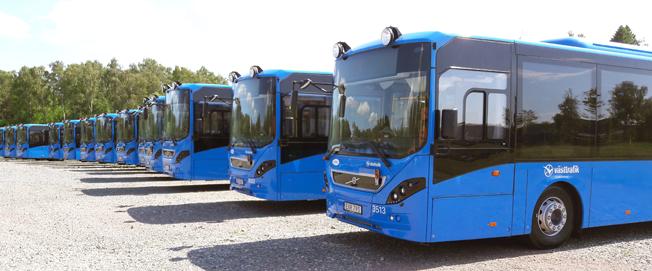 Volvo levererar 42 Volvo 8900 till BIVAB-företag. Foto: Volvo.