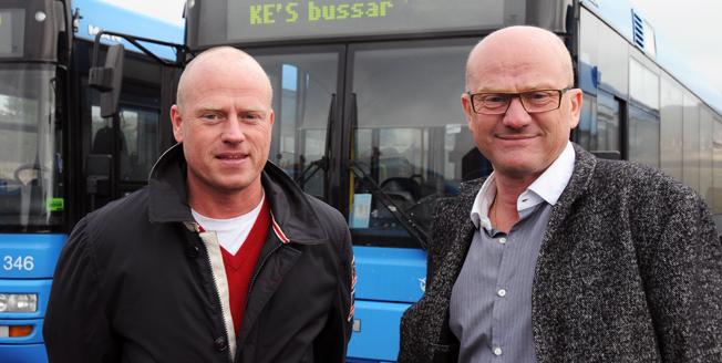 Nyligen förlorade bröderna Magnus och Fredrik Elofsson skoltrafiken i Kungsbacka. På fredagen vann de linjetrafiken där och på Onsalahalvön. Arkivbild: Ulo Maasing.