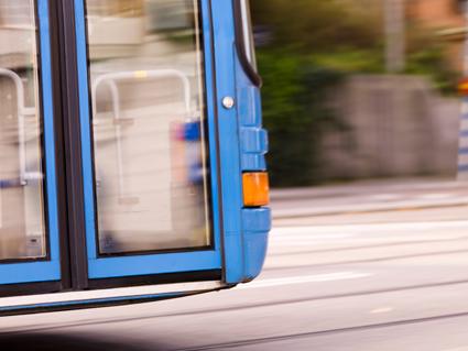 20 procent fler resenärer har hittills i år stigit ombord på Grön Express mellan Göteborg och Kungälv än samma tid förra året. Bild: Nobina.
