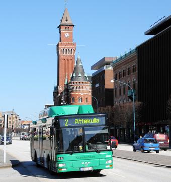 Det är nu klart att staten medfinansierar två BRT-liknande busslinjer i Helsingborg. Foto: Ulo Maasing.