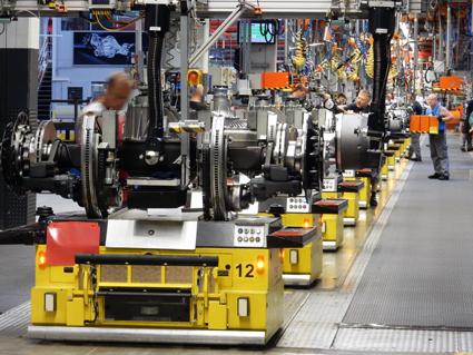 MAN:s axelfabrik i München tillverkar 90 000 - 110 000 axlar om året. Foto: Ulo Maasing.