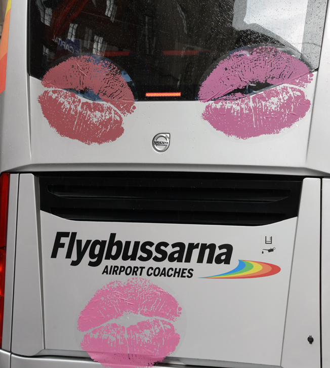 Pussad flygbuss.