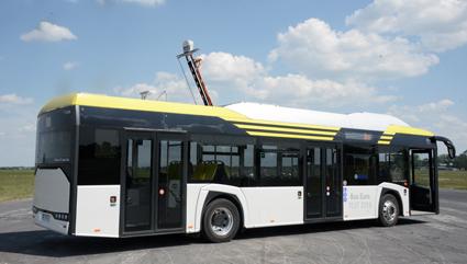 Solaris kommer även att visa Urbino 12 electric med pantograf. Foto: Ulo Maasing.