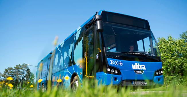Transdev har beställt 25 VDL Citea lättviktsbussar till Umeå. 23 har levererats, de sista två kommer till björkarnas stad i augusti. Foto: VDL.