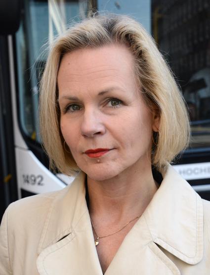 Anna Grönlund, branschchef och vice vd, Sveriges Bussföretag: Ändrad yrke4strafiklag gör dåligt situation ännu värre. Foto: Ulo Maasing.