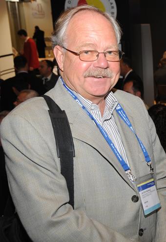 Jan-Erik Kjellberg engagerade sig mycket även i branschens internationella arbete. Här ses han på IRU:s världskongress 2008. Foto: Ulo Maasing.