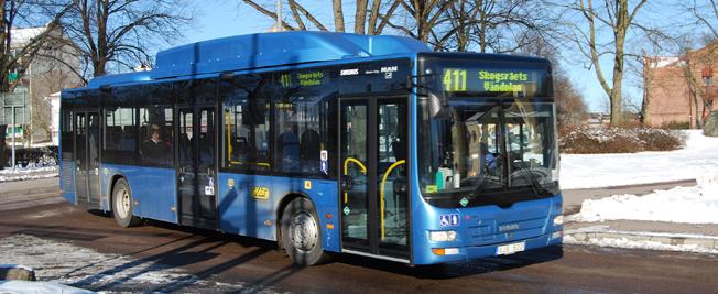 Stadsbussarna i Kalmar har fått många klagomål för uteblivna turer. Nobina skyller på busstillverkaren. Foto: marcusroos/Wikimedia Commons.