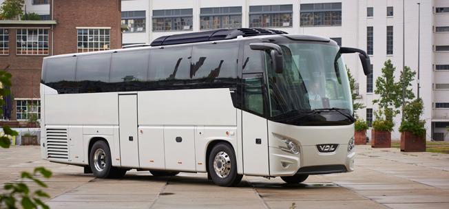 VDL lanserar sin turistbuss Futura i en 10,6 meter lång version. Premiär på IAA i Hannov er i slutet av september. Foto: VDL.