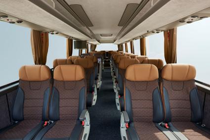 Bussen kan fås med en rad olika inredningsalternativ. Här är ett. Foto: VDL.