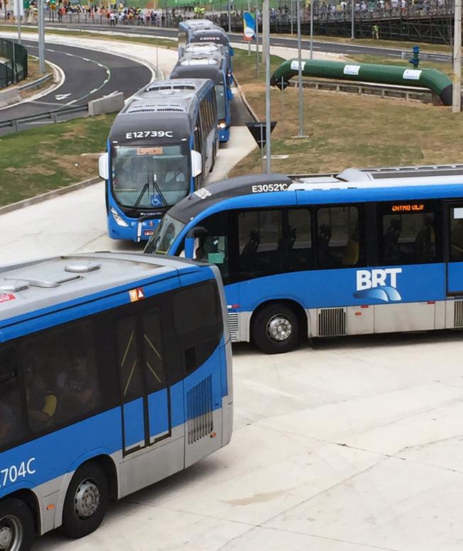 Tät BRT-trafik.