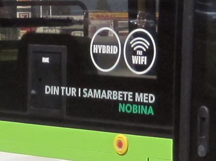 Avtalet mellan Din Tur och Nobina om stadstrafiken i Sundsvall hotar stoppa ungdomsrabatten för bussresor i staden. Foto: Volvo.