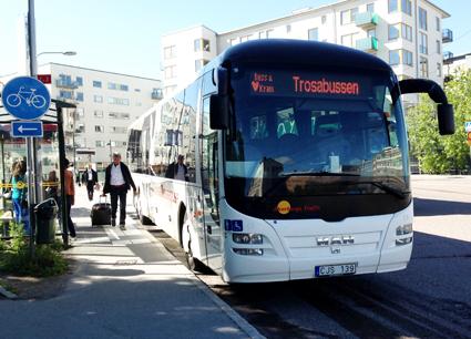 Otillbörligt gynnad buss? Foto: Ulo Maasing.
