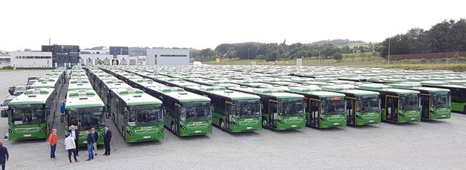 187 Volvobussar på en gång levererades till två bussföretag i norska Rogaland. Foto: Volvo Norge.