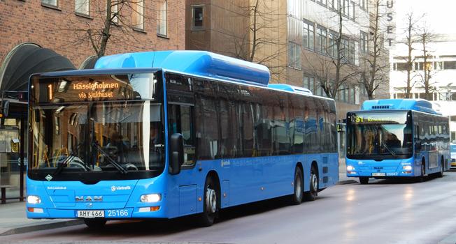 Den 1 april nästa år går Borås Lokaltrafik i graven som bussföretag. Foto: Ulo MAasing.