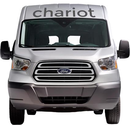 Chariot är ett alternativ till traditionell kollektivtrafik. Bild: Chariot.