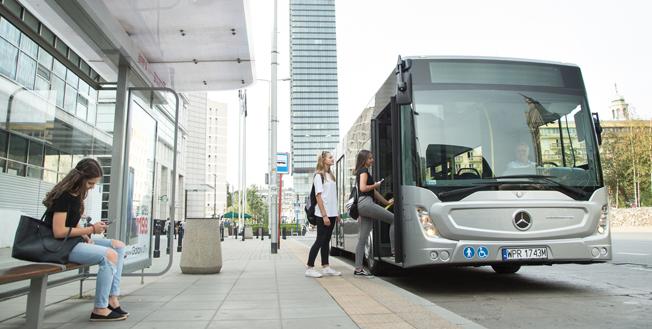 Mercedes-Benz lanserar en ny generation av stadsbussen Conecto, avsedd för Östeuropa och Mellanöstern. Foto: Daimler Buses.