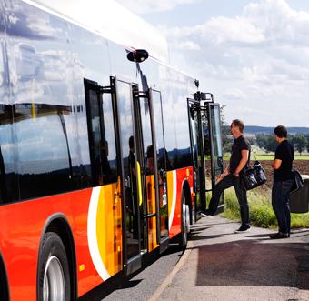 Nu är busstrafiken i Östergötland fossilfri. Foto: Niclas Albinsson.