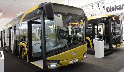 Nyheter hos Solaris: Nya Urbino som hybrid och som gasbuss. Foto: Ulo Maasing.