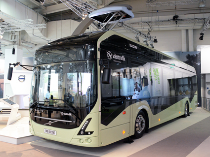 Volvo 7900 Electric visas liksom Volvos hela program av elektrifierade bussar. Foto: Ulo Maasing.