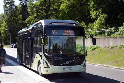 Under hösten testas systemet på linje 55 i Göteborg. Nästa år introduceras det på Volvos stadsbussar i Europa. Foto: Ulo Maasing.