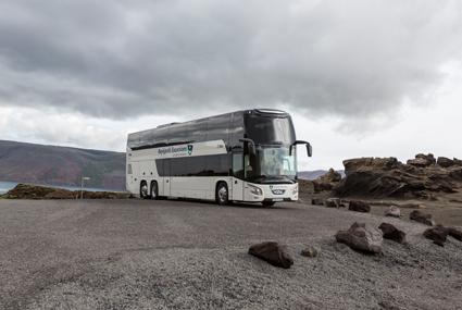 I den stora leveransen till Island ingår landets första dubbeldäckare, en VDL Futura FDD2. Foto: Gunnar Steinn Úlfarsson.
