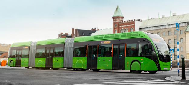 MalmöExpressen körde över sundet för att danska politiker skulle få kolla in BRT. Foto: Ulo Maasing.