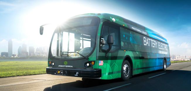 Proterra Catalyst E2 – amerikansk batteribuss som har klarat 965 kilometer på en laddning. Bild: Proterra.