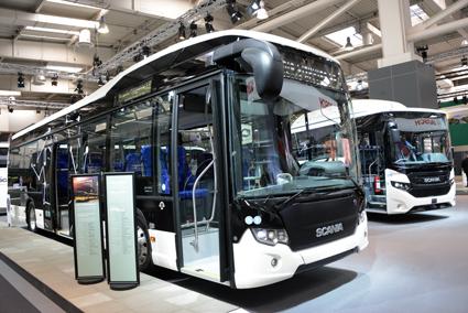 …liksom en Scania Citywide hybridbuss med lågentré. Foto: Ulo Maasing.