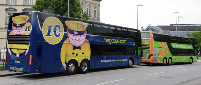 Separation. Efter två månaders samarbete mellan megabus.com och FlixBus står det klart att de båda europeiska expressbussjättarna går skilda vägar. Foto: Ulo Maasing.
